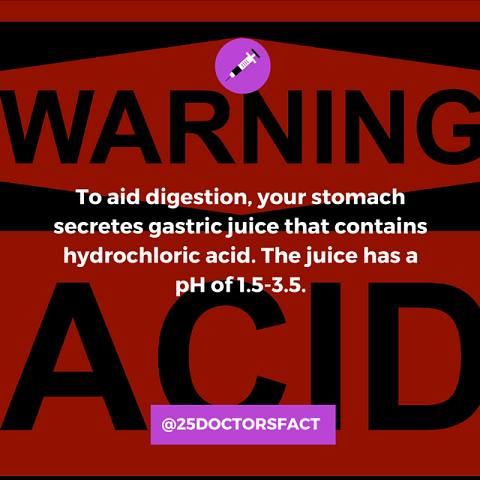 stomach acid pH