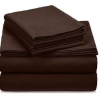 Pinzon Signature 190-Gram Cotton Heavyweight Velvet Flannel Sheet Set - Queen, Italian Roas.PNG