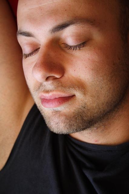 male asleep