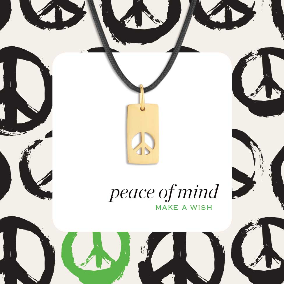 Peace Of Mind Pendant Me Em For Good Jewelry With A Promise To