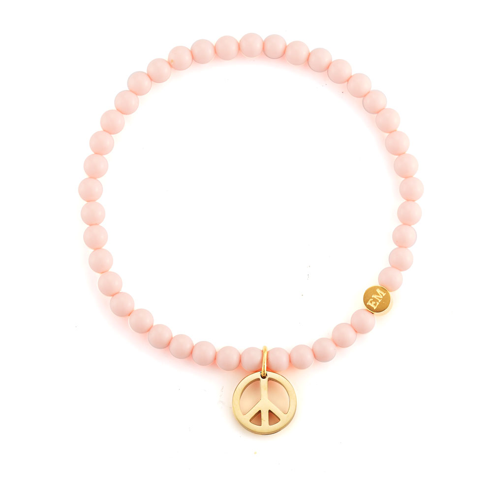 Peace Charm Bead Bracelet