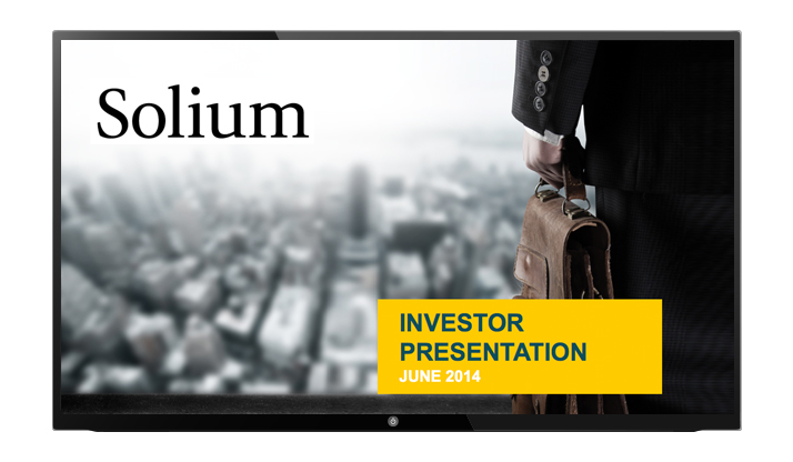 Title slide of the investor presentaion deck