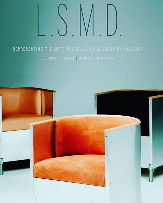 L.S.M.D. Launches the #matstheselius collection by @collection_kallemo at the @addesignshow in just ONE week. We look forward to seeing you there. Buy tickets at www.addesignshow.com