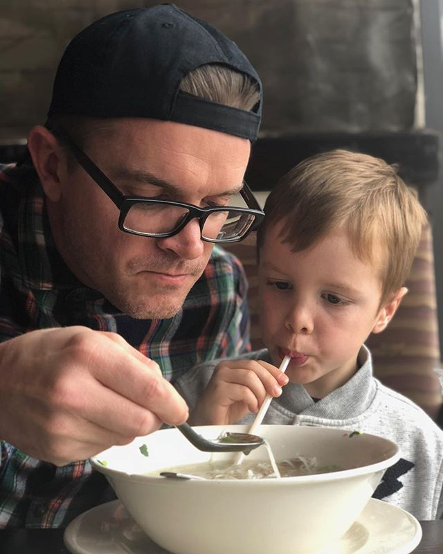 Teaching Miles the way of Vietnamese cuisine 🍲 . . Train up a child in the way he should go... . Photo by @acface . . #vietnamesefood #pho #noodles #noodlesoup #vietnamese #leanbrisket #hotsoup #dadlife #rich #grateful #goodlife #goodtimes #kids #children #food #foodie #themfancherboys