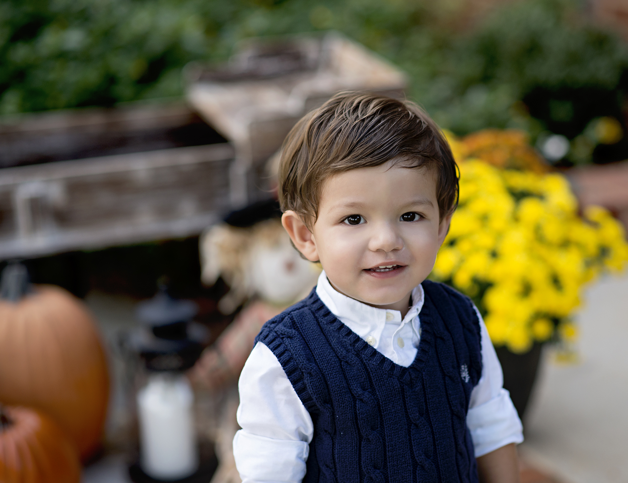 fun cousin session, fall colors, sweater weather, pumpkins, wagons, puddle jumping