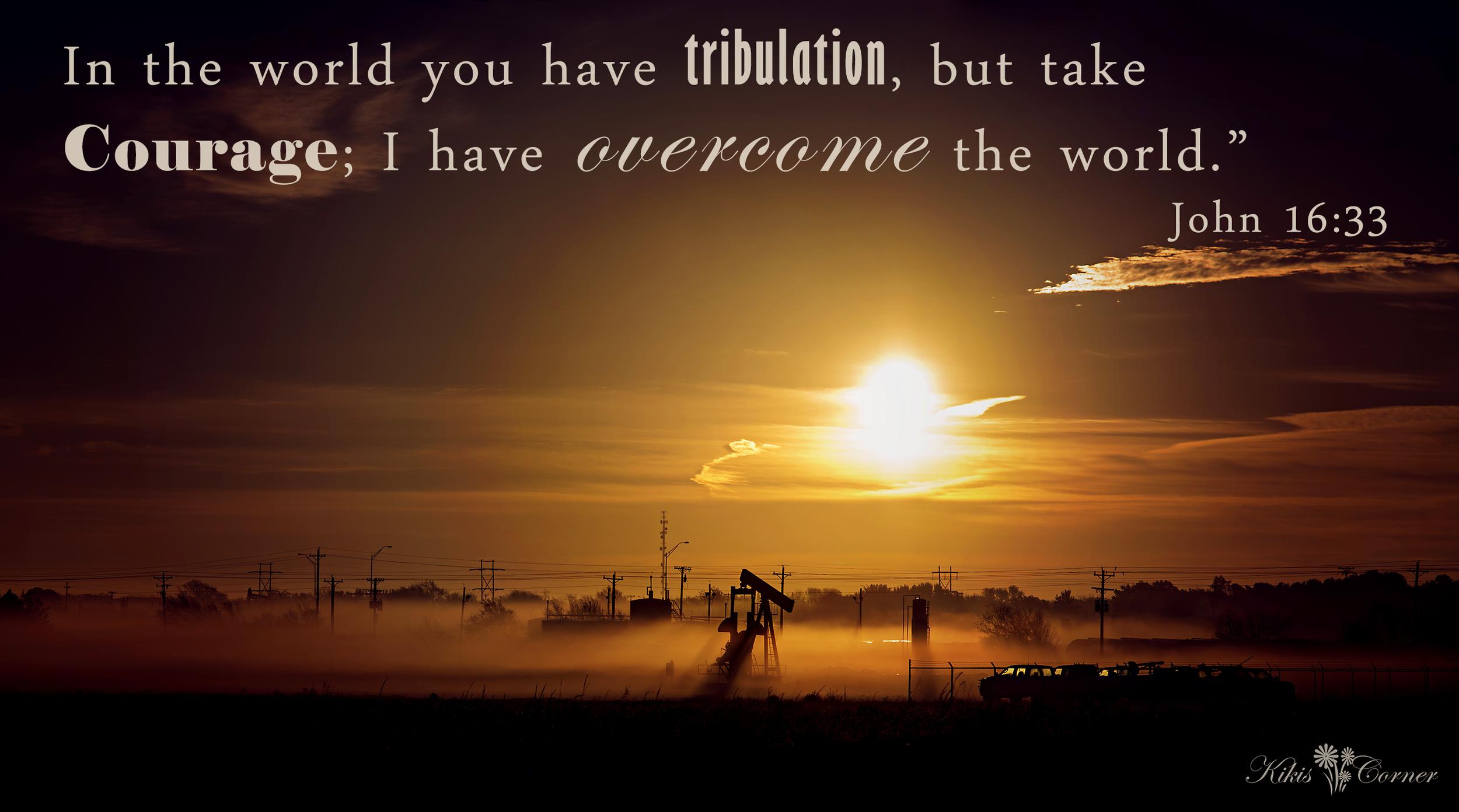 Oil field sunrise overcome the world