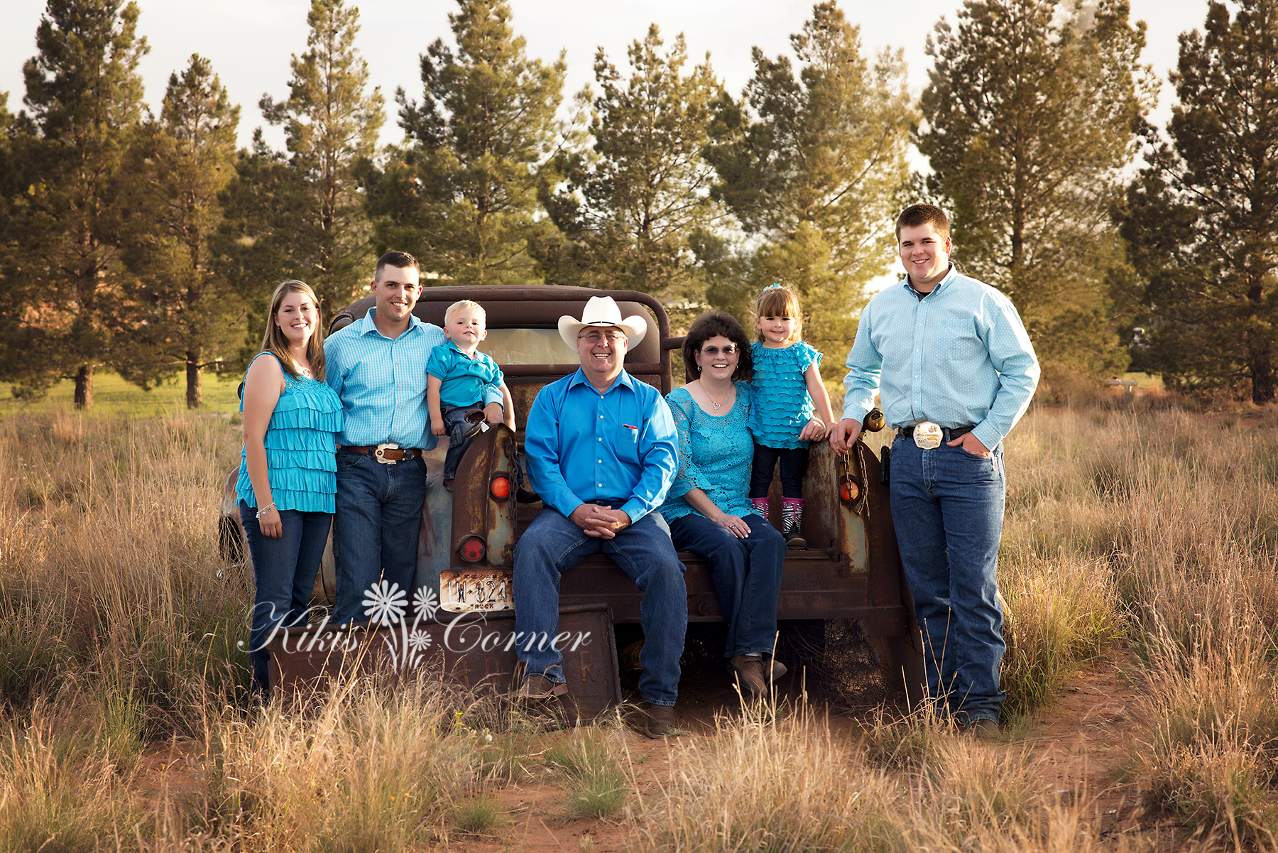 stanton tx family sessions, field image, old truck, three generations