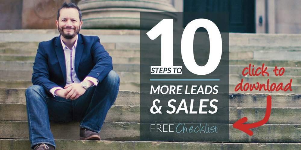 10 steps to more leads and sales checklist.