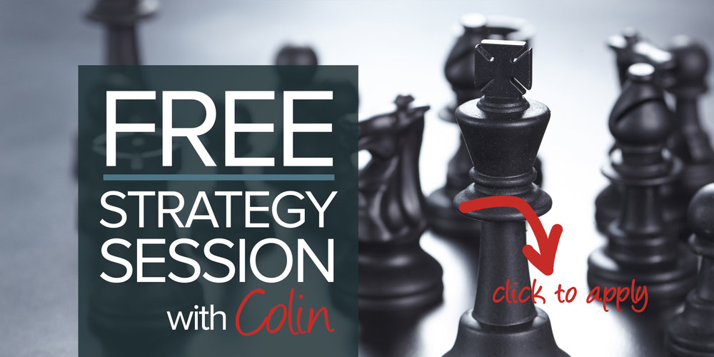 marketing strategy session with Colin Scotland