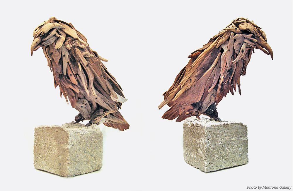 Driftwood raven