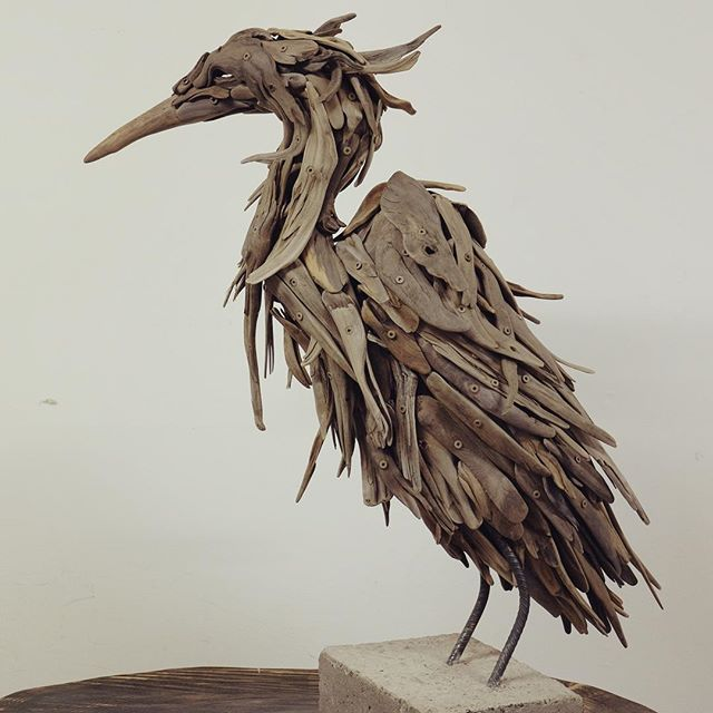 I love the awkward elegance of the great blue heron. #GBH #driftwood #pnwbc #art #pnwonderland #canadianartists #bcartist #Northwestcreatives