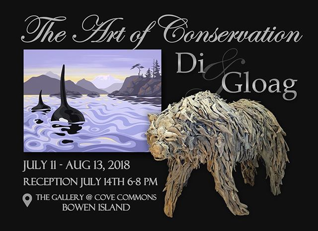 Save the date! July 14th, Bowen Island #theartofconservation @art_by_di