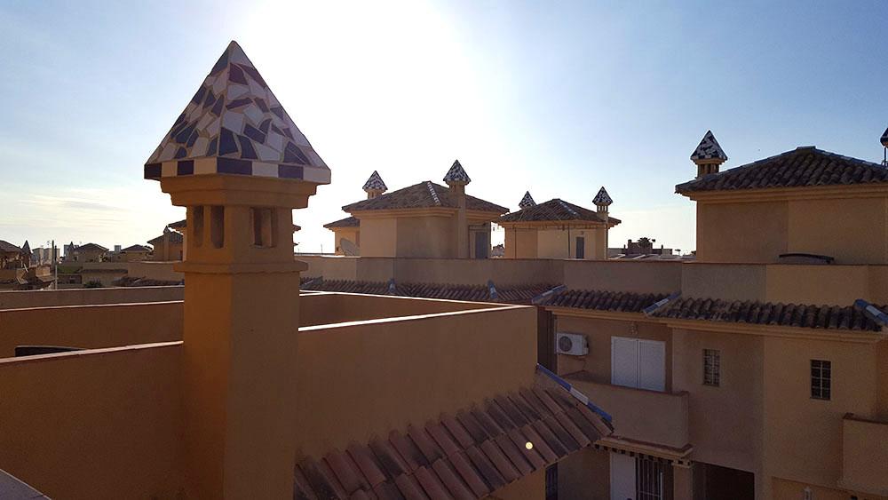 Den anden terrasse på taget