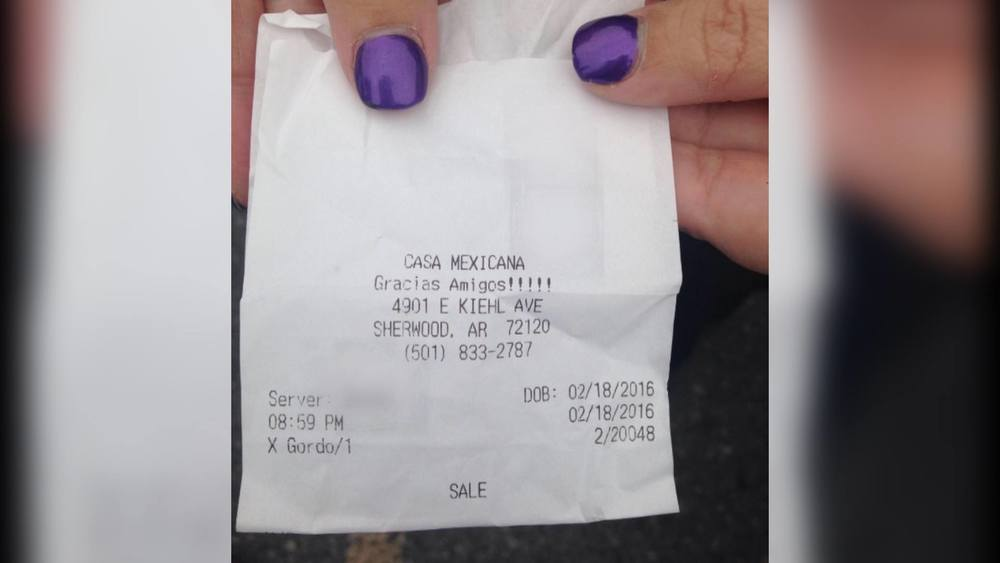 Casa Mexican bartender calls customer 'X Gordo', Spanish for 'Extra Fat' on her receipt