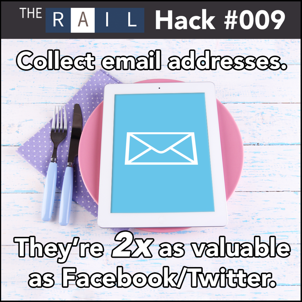 Restaurant Hack - Collect the email addresses of your diners and send them regular updates.
