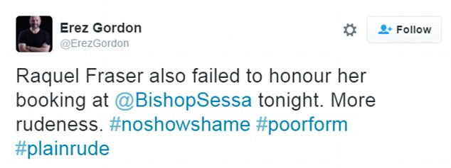 #NoShowShame tweets shame customers who don't show up to their restaurant reservations