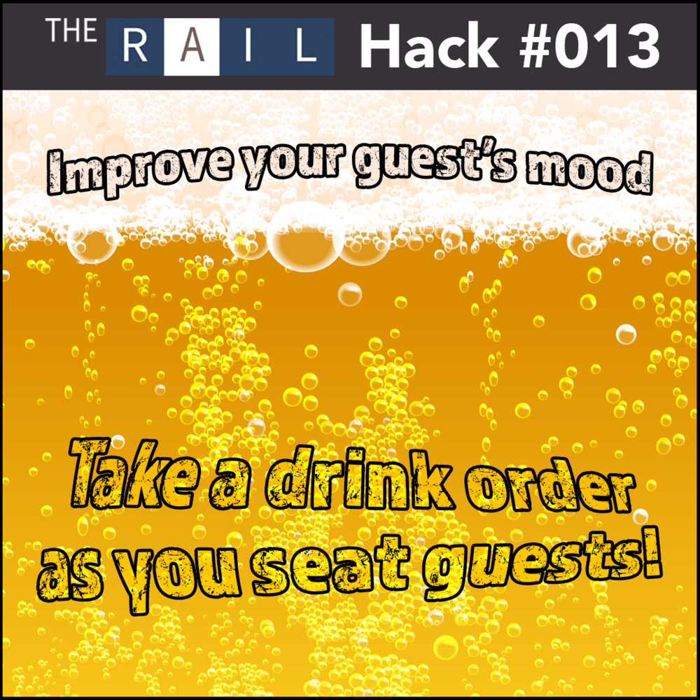 Bar tip #013 - Take a drink order as soon as your guest sits down