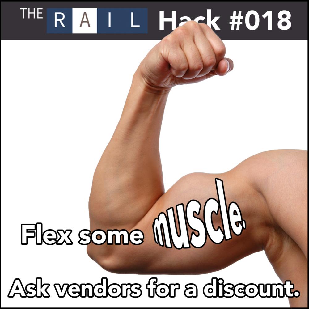 Restaurant tip #018 - ask vendors for discounts