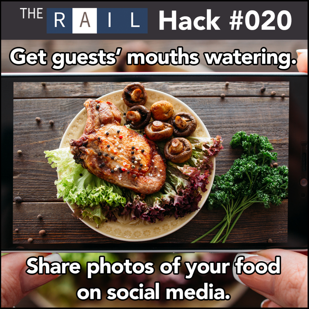 Restaurant marketing tip - share pics of your restaurant's food and drink on social media