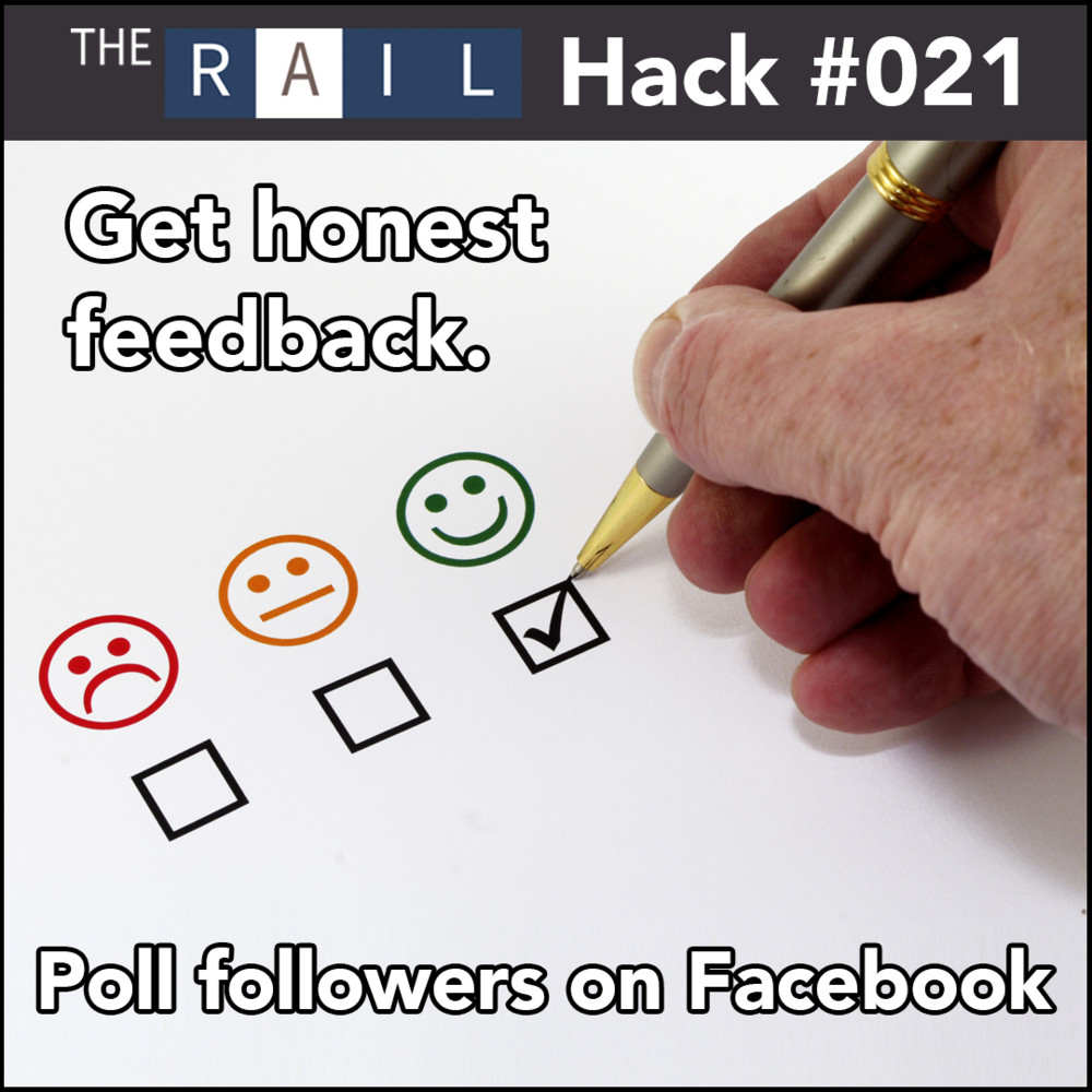 Restaurants should ask their Facebook followers for feedback.