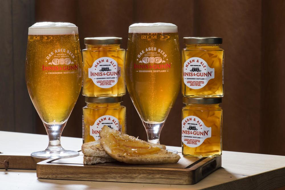 Scottish craft brewery Innis & Gunn has created the world's first spreadable beer marmalade.