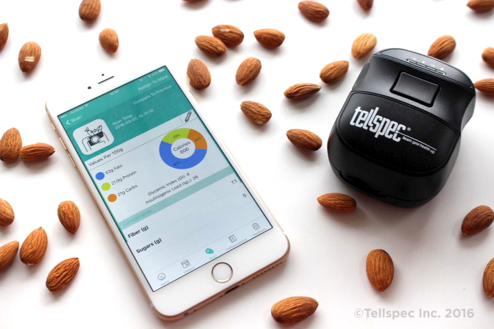 Food scanners like Tellspec can tell restaurant managers and diners alike what's in their food, including calorie count, percent fat/protein/carbs, fibers and sugars.