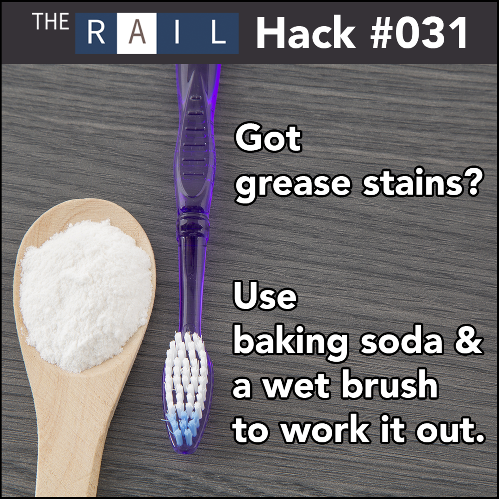 Restaurant cleaning tip: Use baking soda and a wet brush to clean tough grease stains