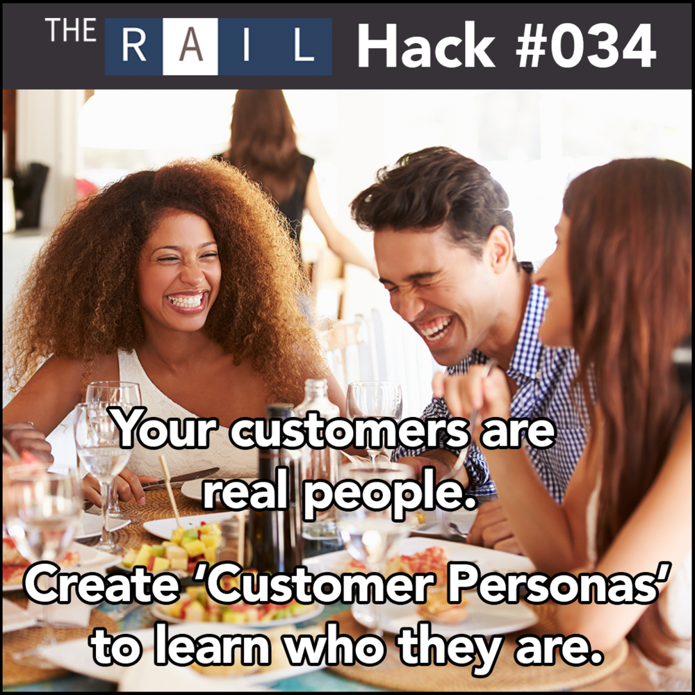 Create customer personas, aka 'buyer personas' and get a profile on who your real customers are.