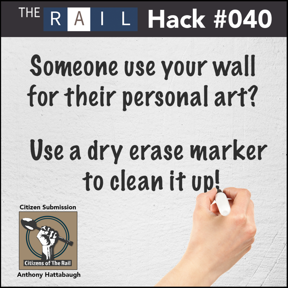 Restaurant cleaning tip: Use dry erase markers to help clean up marked up walls