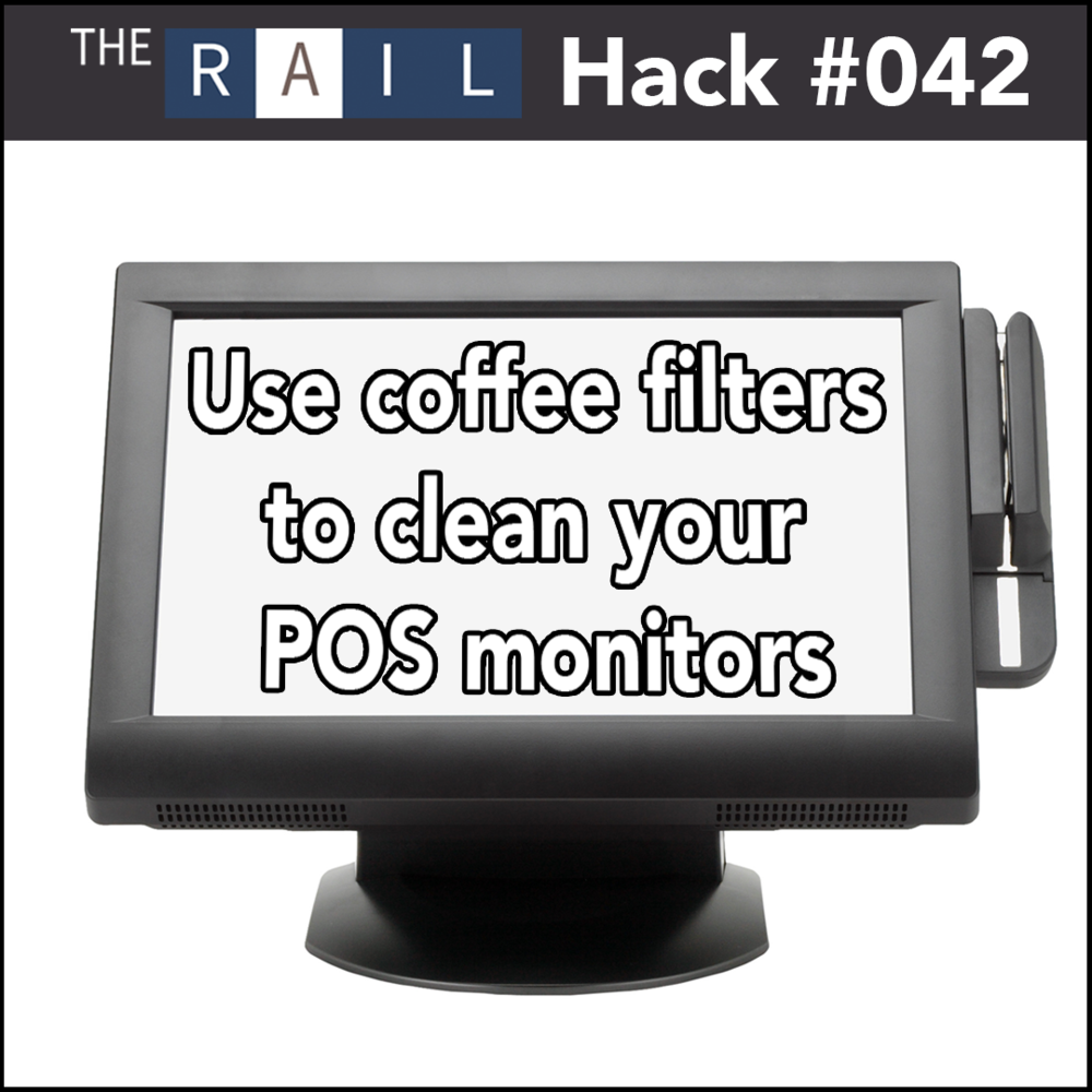 Restaurant operations tip: Use coffee filters to quickly clean your POS monitor.