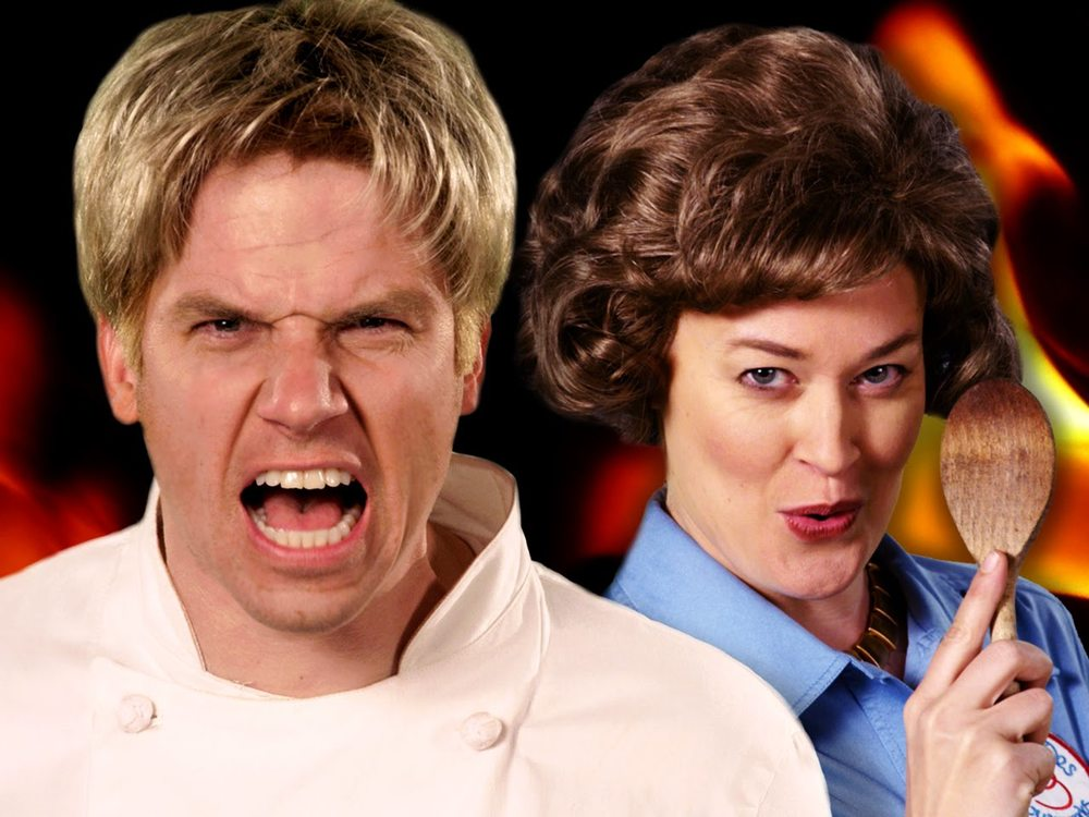 Who'd win in an epic rap battle? Gordon Ramsay or Julia Child?