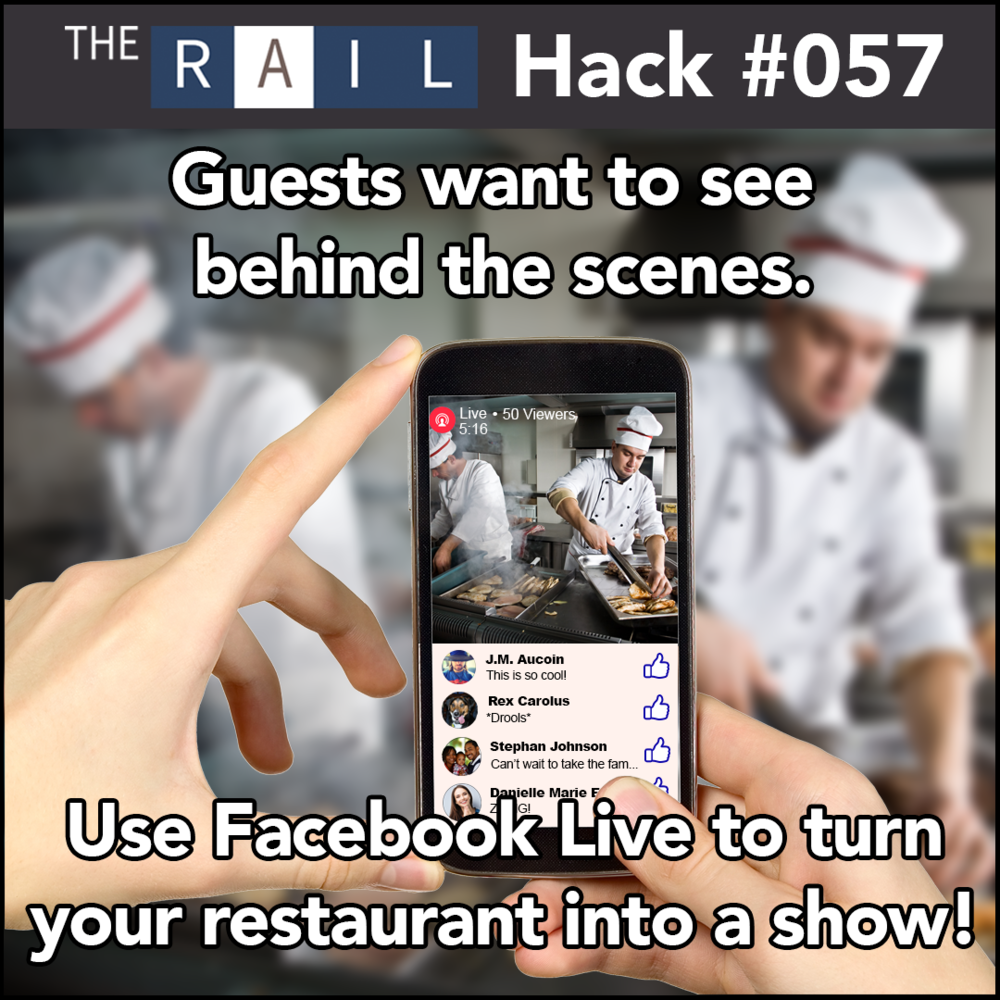 Restaurant tip #057 - Use Facebook Live to engage and delight your customers.