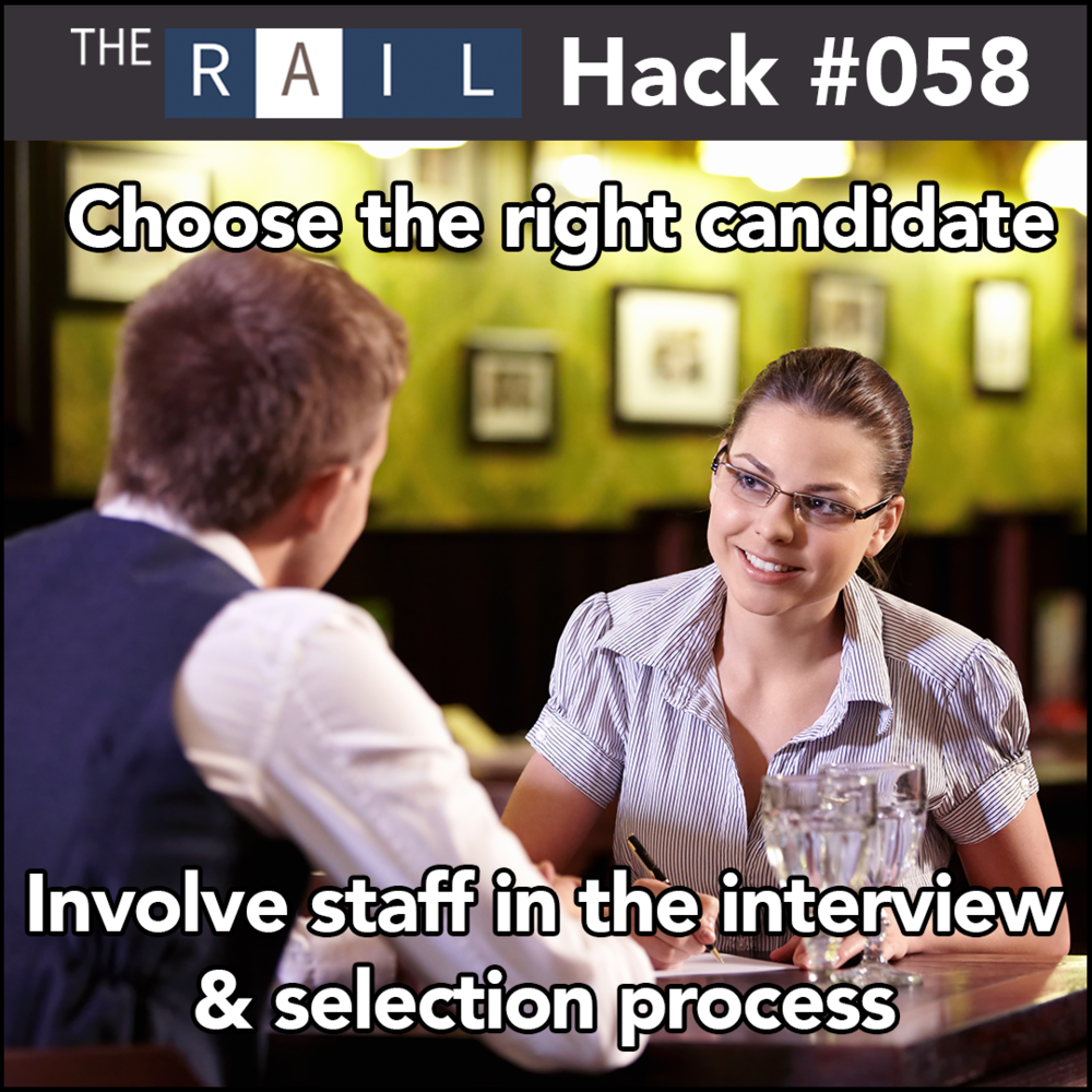 Restaurant staff tip: Involve your current staff in the recruiting process to make sure you find the right hire the first time.