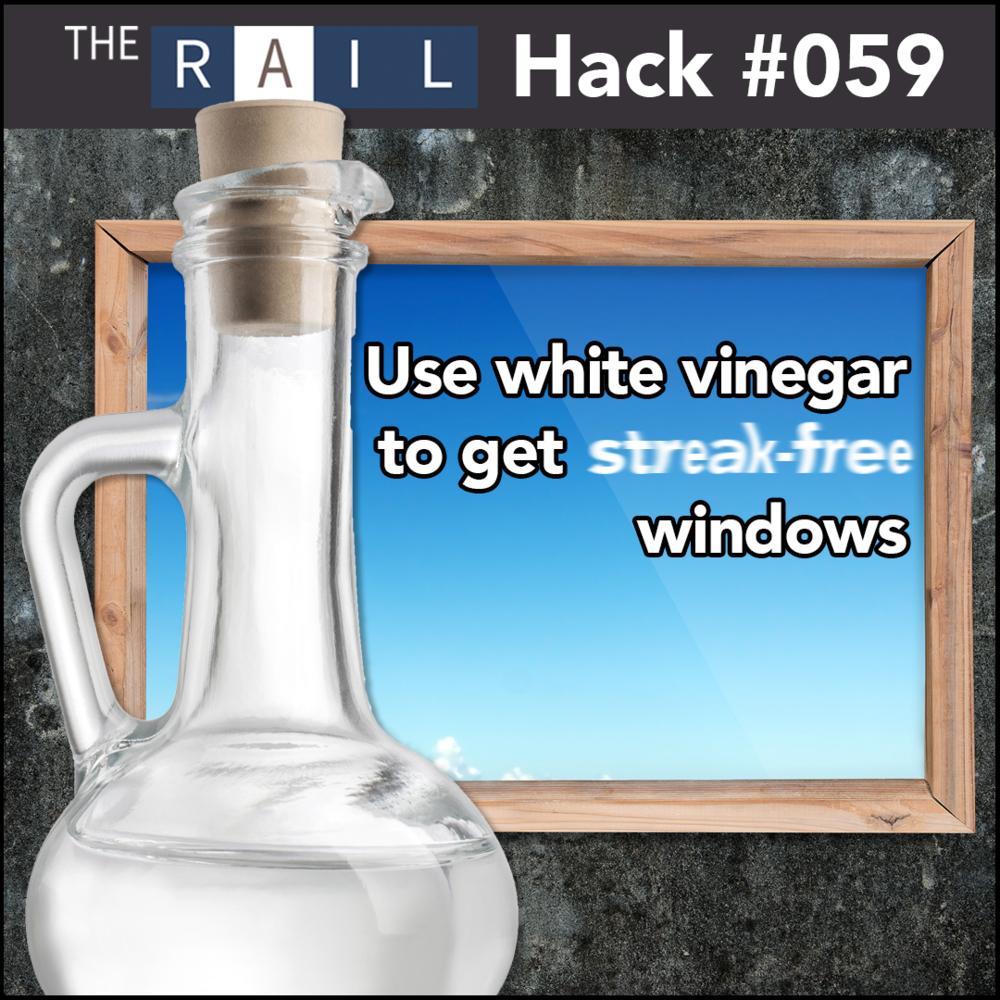 Restaurant tip: Use white vinegar to get streak-free windows