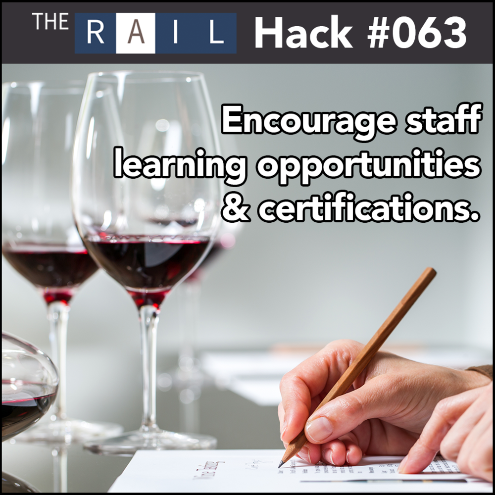 Restaurant tip: Help and encourage your restaurant's staff to get industry training and certifications