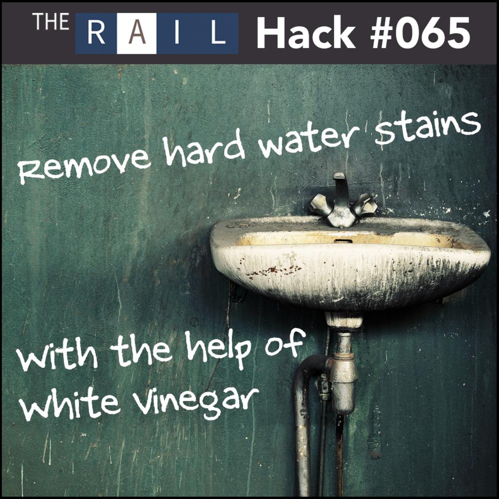 Restaurant cleaning tip: Use white vinegar to help get rid of tough hard water stains