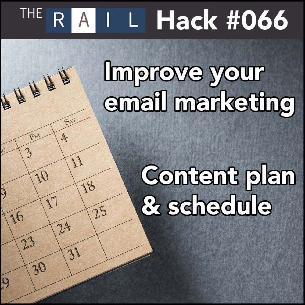 Boost your email marketing efforts by creating a content plan and schedule