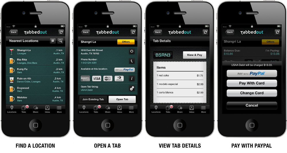 TabbedOut is a restaurant-specific mobile app that also rewards and communicates guest behavior metrics