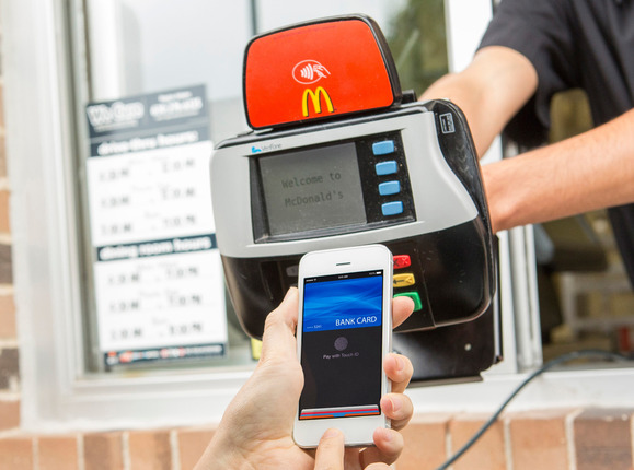 ApplePay being used at McDonald's