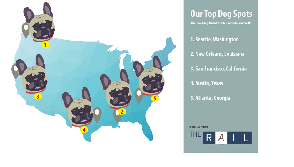 Dog-friendly US cities, infographic