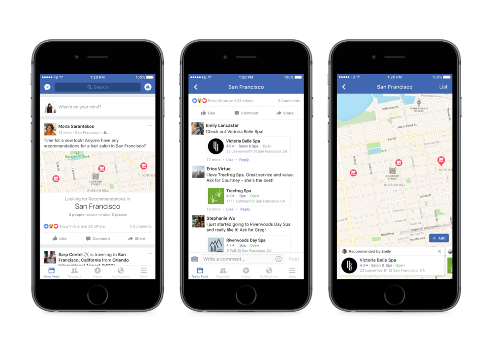 Facebook is jumping into the restaurant industry, with restaurant recommendation services and online app food ordering.
