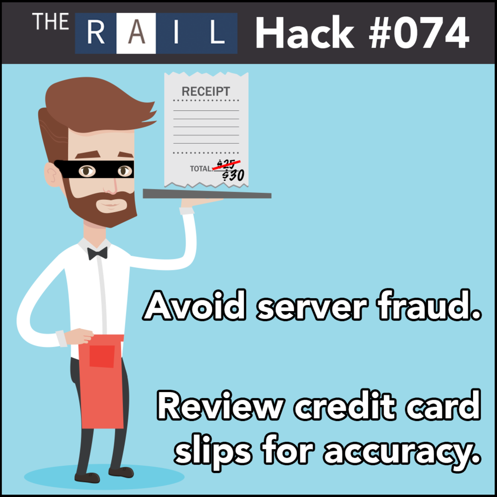 Review guests' credit card slips to ensure your restaurant's servers aren't altering tip amounts.