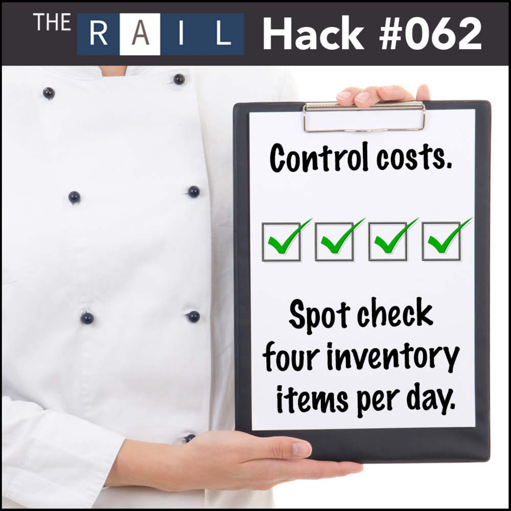 Restaurant inventory tip: Conduct inventory checks regularly.