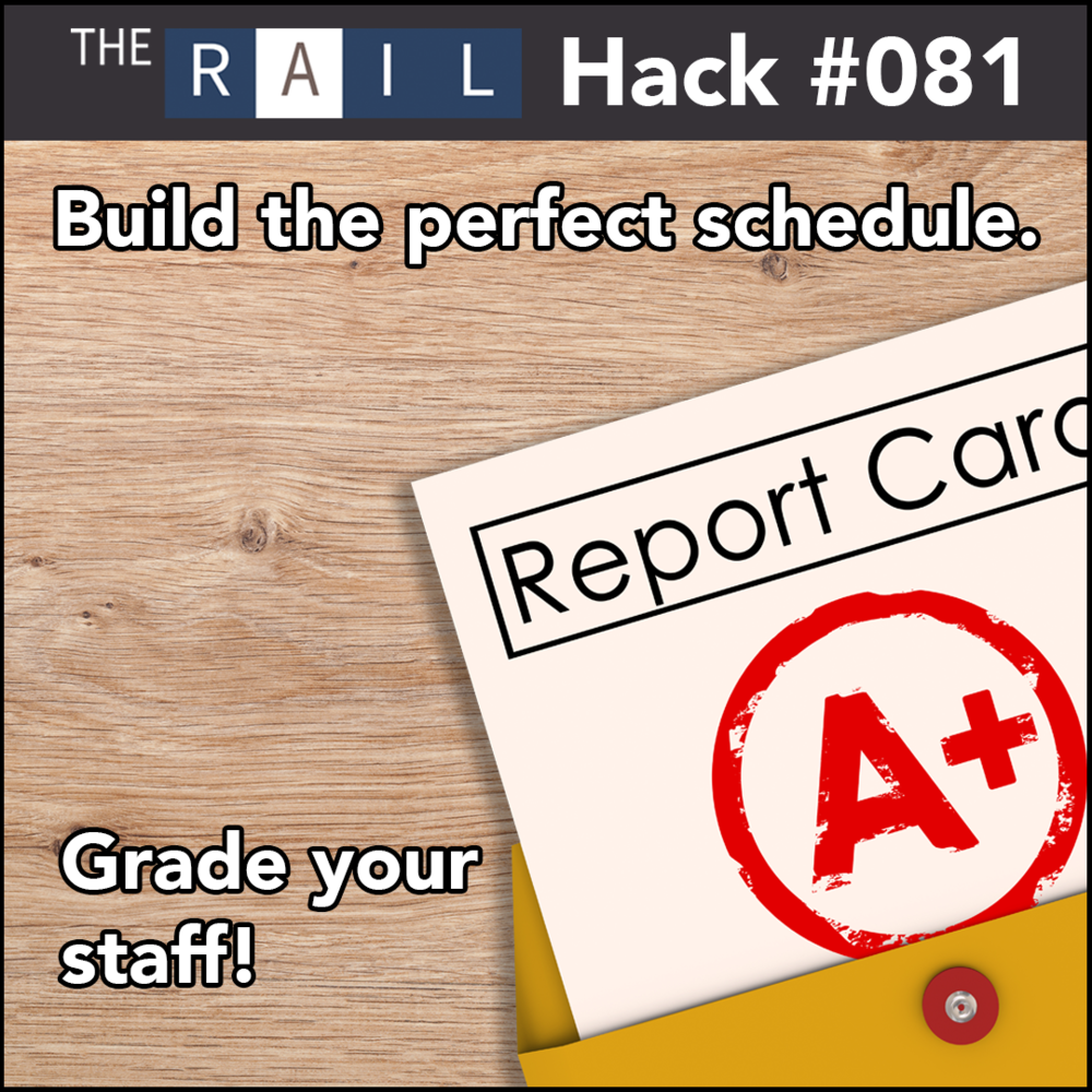 Restaurant staff management tip: Build the perfect schedule by grading staff performance.