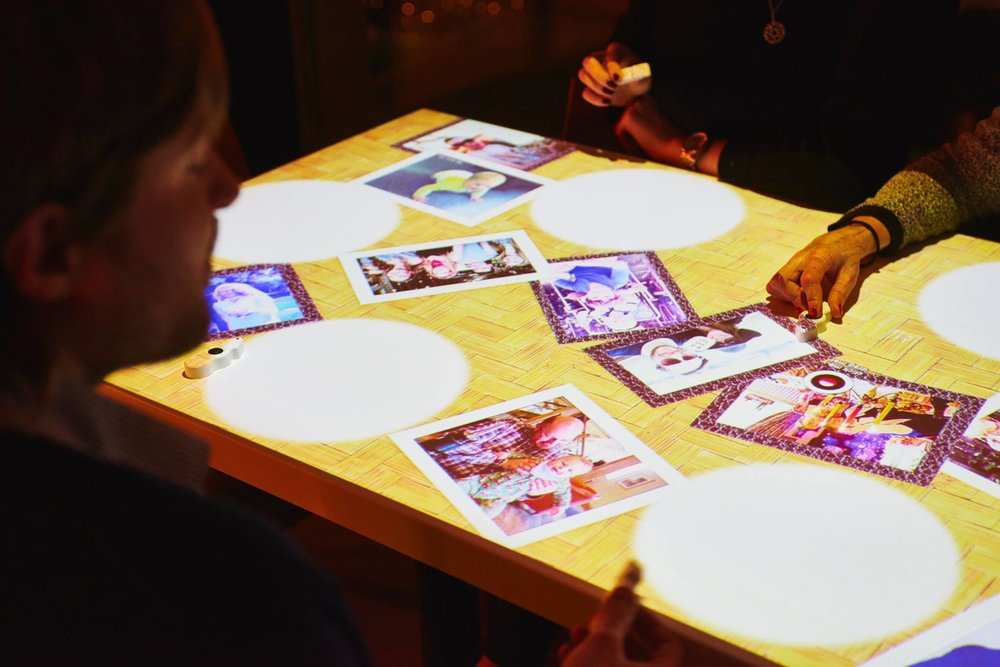 inamo's interactive tables also allow for guest photos to be uploaded and displayed.