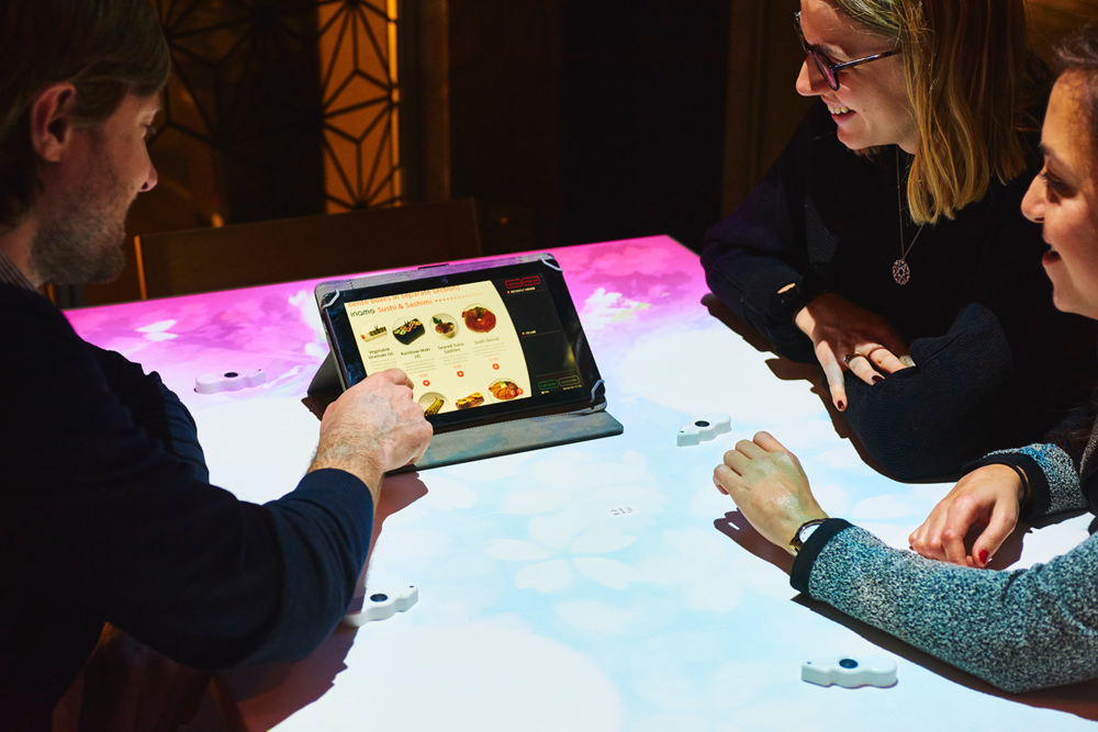 inamo also uses tabletop tablets for food and drink ordering.