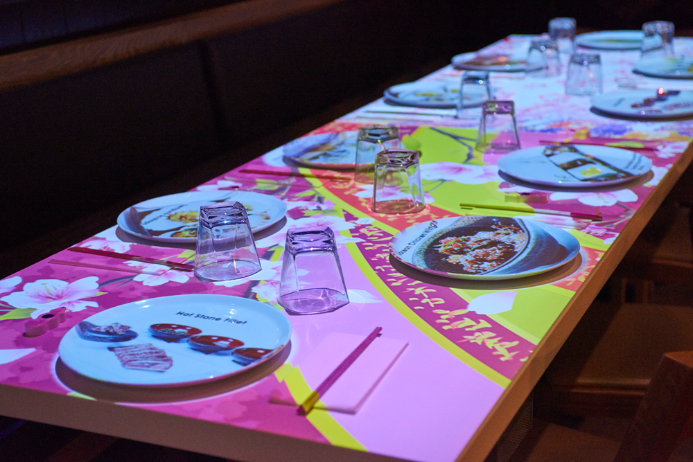 "inamo guests can also choose the look and feel of their ""table cloth."""