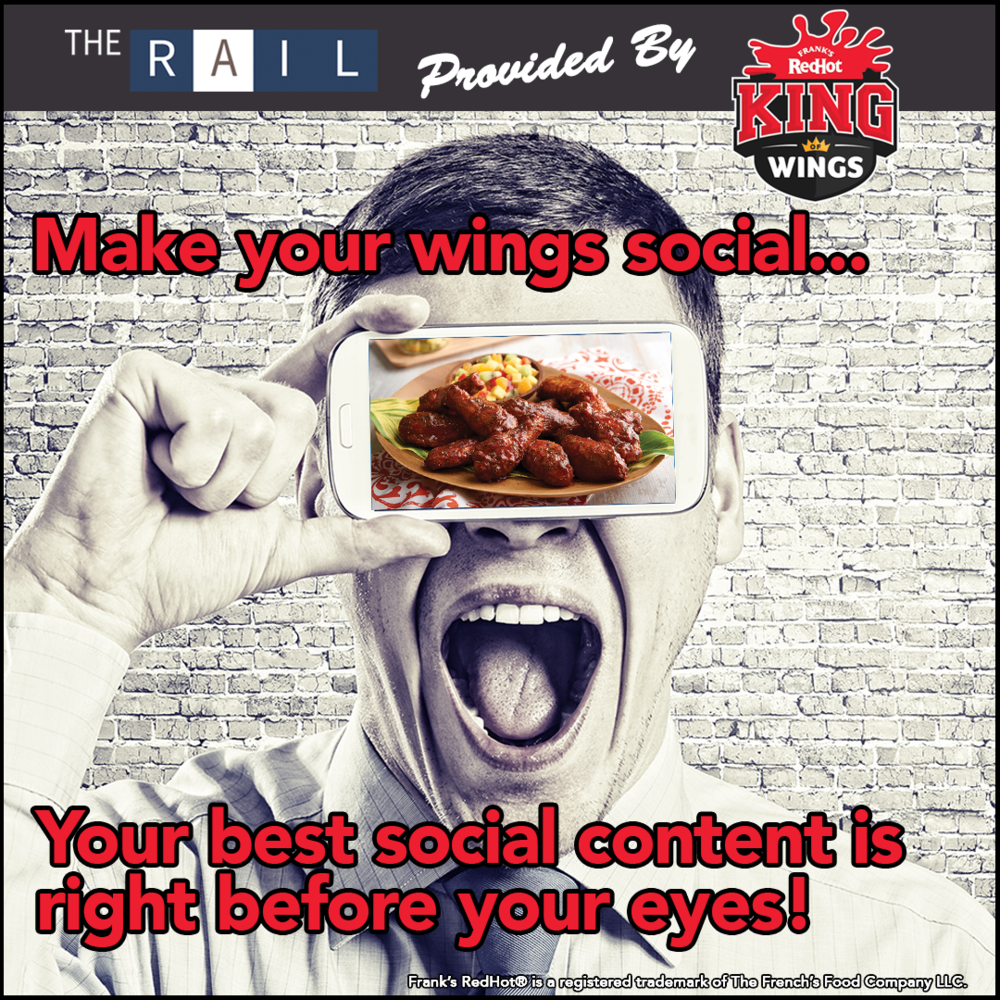Use your restaurant's chicken wings to tempt guests on social media