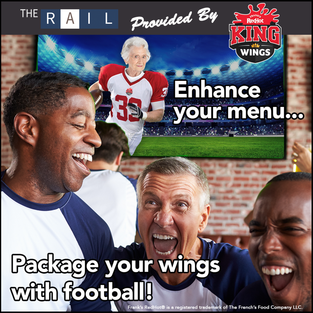 Sports bar tip: Pair your chicken wings with football!