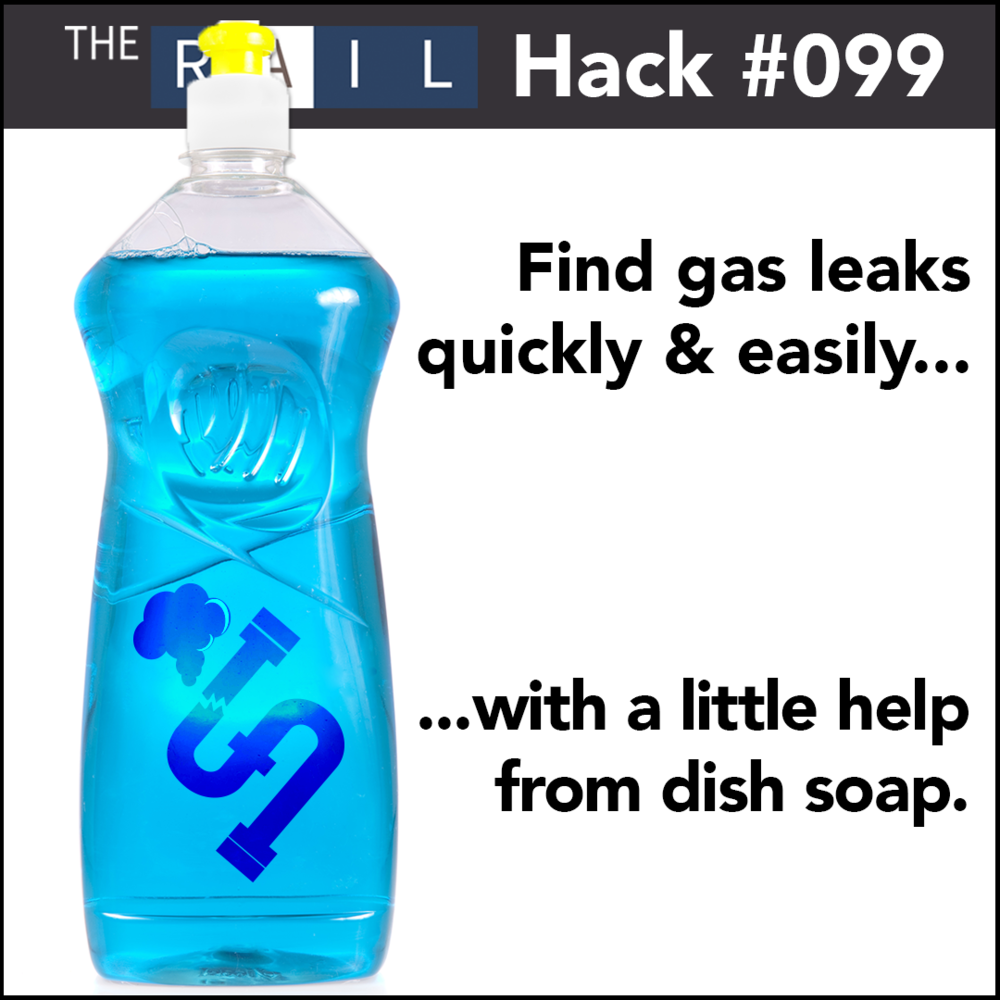 Restaurant kitchen safety tip: Use soap & water to find gas leaks